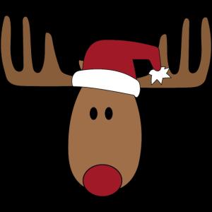 Lustiger Elch zu Weihnachten