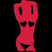 silhouette sexy maedchen herz brueste