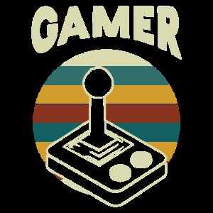 Gamer | Circle Horizontal Stripes|Vintage Console