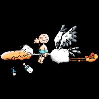 Storch bringt Babyglück