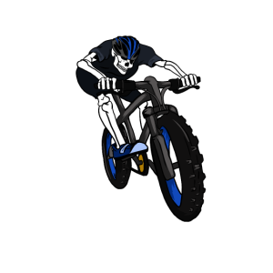 Cooles Skelett auf dem Mountain Fahrrad Geschenk