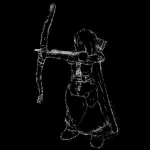 Bogenschütze Kreide Zeichnung Schütze Jäger 2