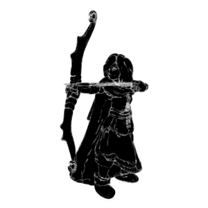 Bogenschütze Kreide Zeichnung Schütze Jäger 3
