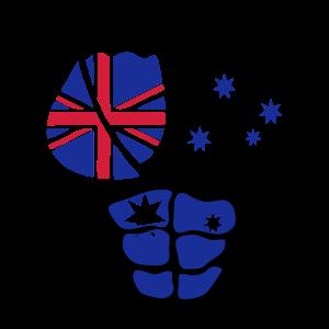 koerper australischer muskel frau flagge