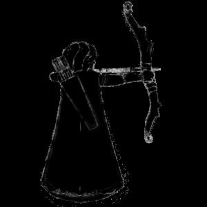 Bogenschütze Kreide Zeichnung Schütze Jäger