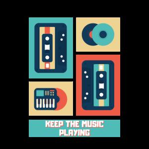 Retro Musik Musikkassette Schallplatten 90er
