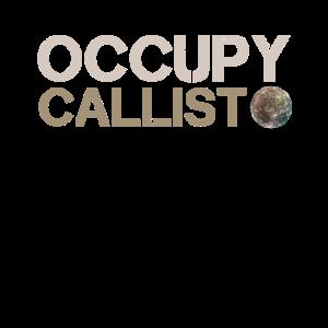 Occupy Callisto. Jupiter Mond Kallisto.