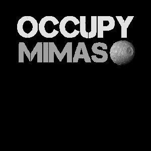 Occupy Mimas Saturn Mond Planet Sonnensystem