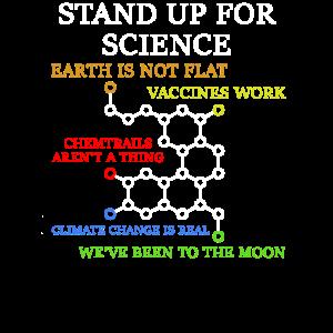 Stand up for Science Wissenschafts Motiv für Nerd