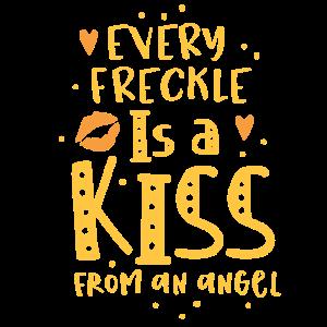 Jeder Sommersprossen ist ein Kuss von einem ANGEL