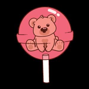Baby-Grizzlybär-Teddybär-Rosa-Lutscher niedlich