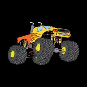cooler springender Monstertruck