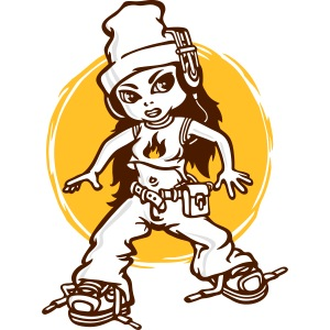 Hip_hop girl flex