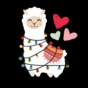 Alpaka Lama Liebe flauschig niedlich Herz lustig