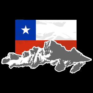 Chile -  Mountains & Flag
