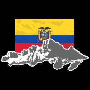 Ecuador - Mountains & Flag