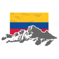 Colombia - Mountains & Flag