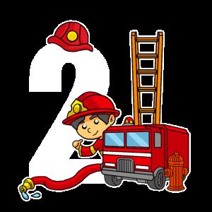 2 Jahre Alt Feuerwehrmann 2. Geburtstag Feuerwehr