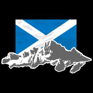 Scotland - Flag & Mountains