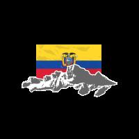 Ecuador - Flag & Mountains