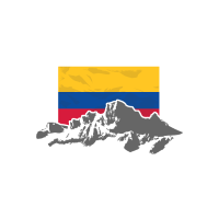 Colombia - Flag & Mountains