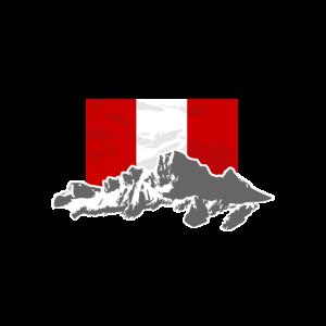 Peru - Flag & Mountains
