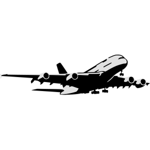airplane Flugzeug A 380 (2 color)