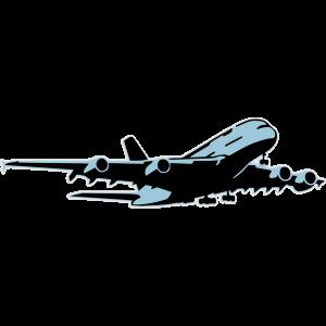 airplane Flugzeug A 380 (3 color)