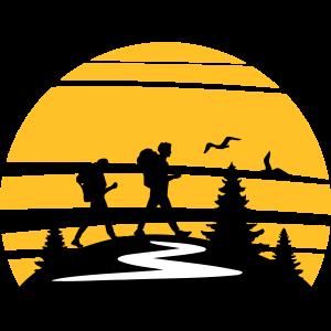 WANDERN Wanderer Berge Sonne