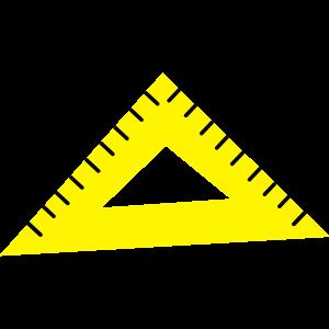 gelbes Dreiecks-Protraktor