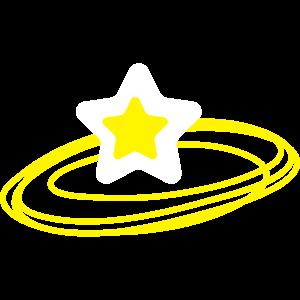 Vektorstern mit Umlaufbahn