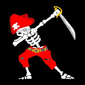 Pirat Outfit Kids Carneval Boys Dabbing Skeleton