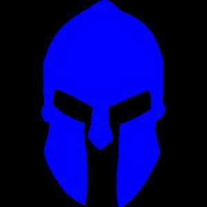 Sparta Helm in blau