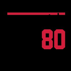 80 Geburtstag Birthday Fussball Soccer Verein