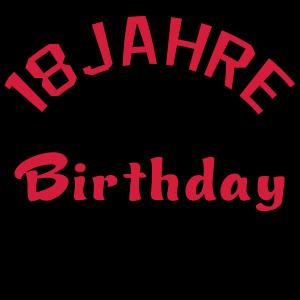Birthday Offcial Offiziell Geburtstag 18 Jahre