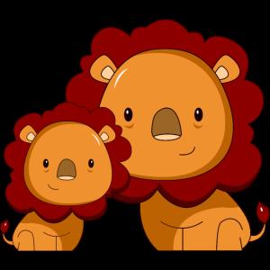 Löwe niedlich Geschenk Löwenmähne