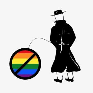 Pissing Man against homophobia