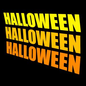 Cooler Halloween Schriftzug Geschenk
