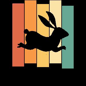 Hase Kaninchen Zwergkaninchen Süßer Vintage Retro