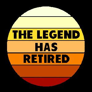 Die Legende ist pensioniert Rente Geschenk