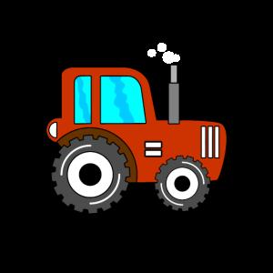 Roter Traktor Jungen Kindertraktor