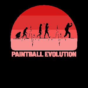 Paintball-Spiel Paintball-Spieler-Evolution