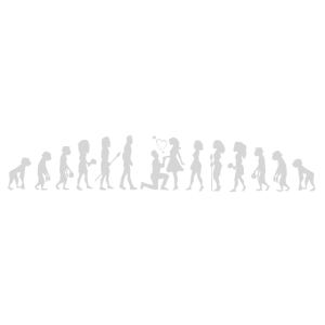Heiratsantrag Evolutions Shirt Weiß