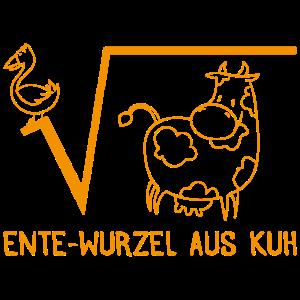 Ente wurzel aus Kuh Mathe Geschenk