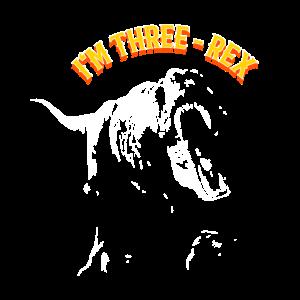 IM THREE T Rex dino Kinder Geburstag