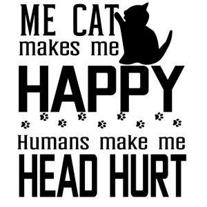 Cat makes happy Katzen machen glücklich