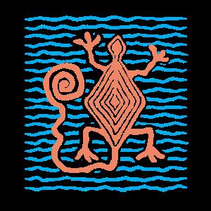 Eidechse Echse Malerei Indianisch