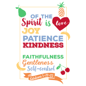 Christliches T-Shirt Galater 5: 22-23 - Frucht von