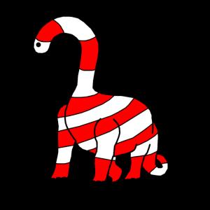Lustiger Dinosaurier Zuckerstange Weihnachten