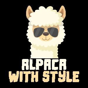 Alpaka Style, Cooles Alpaka mit Boss Sonnenbrille